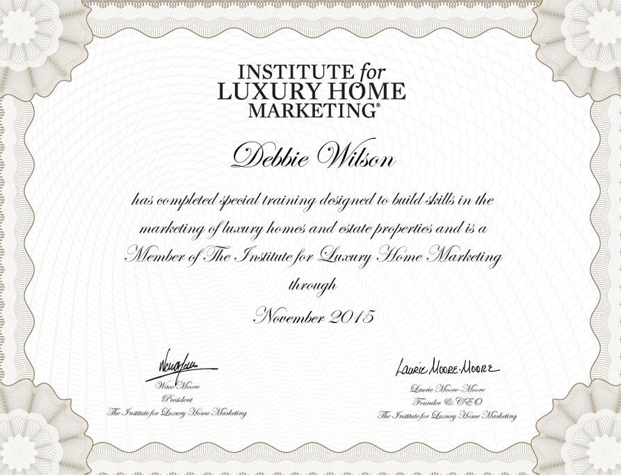 The Clhms Designation Recognized As The Mark Of In Luxury Markets Around  The World The Certified Luxury Home Marketing Specialist Clhms.